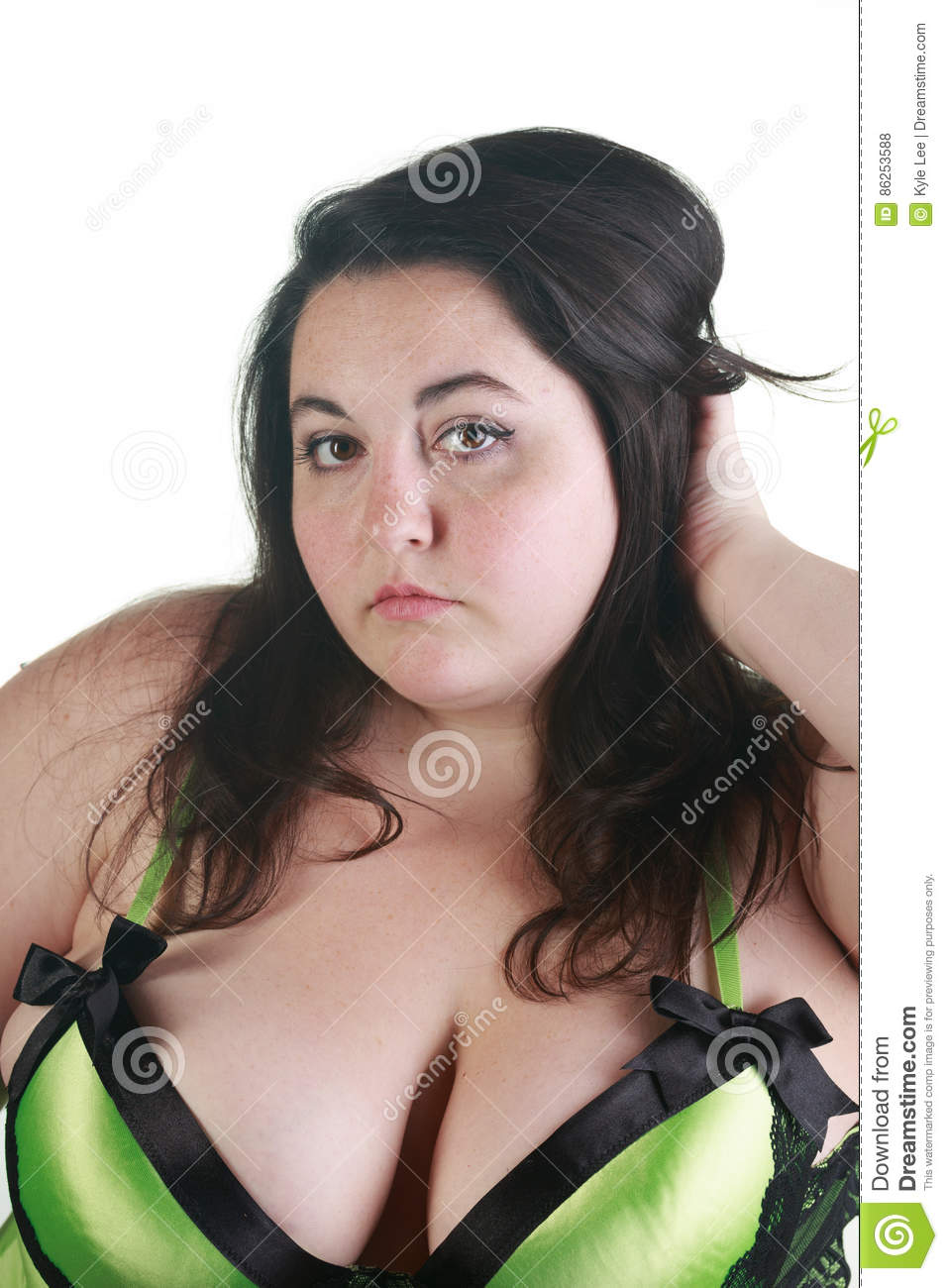 plus size woman posing in the studio stock photo - image of female