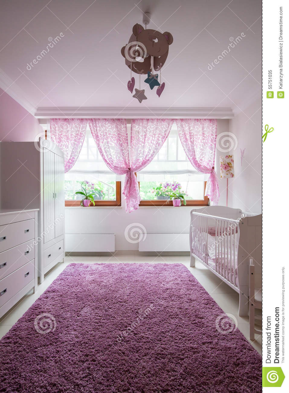 Plush carpet in baby room stock photo image 55751035 for Best carpet for baby nursery
