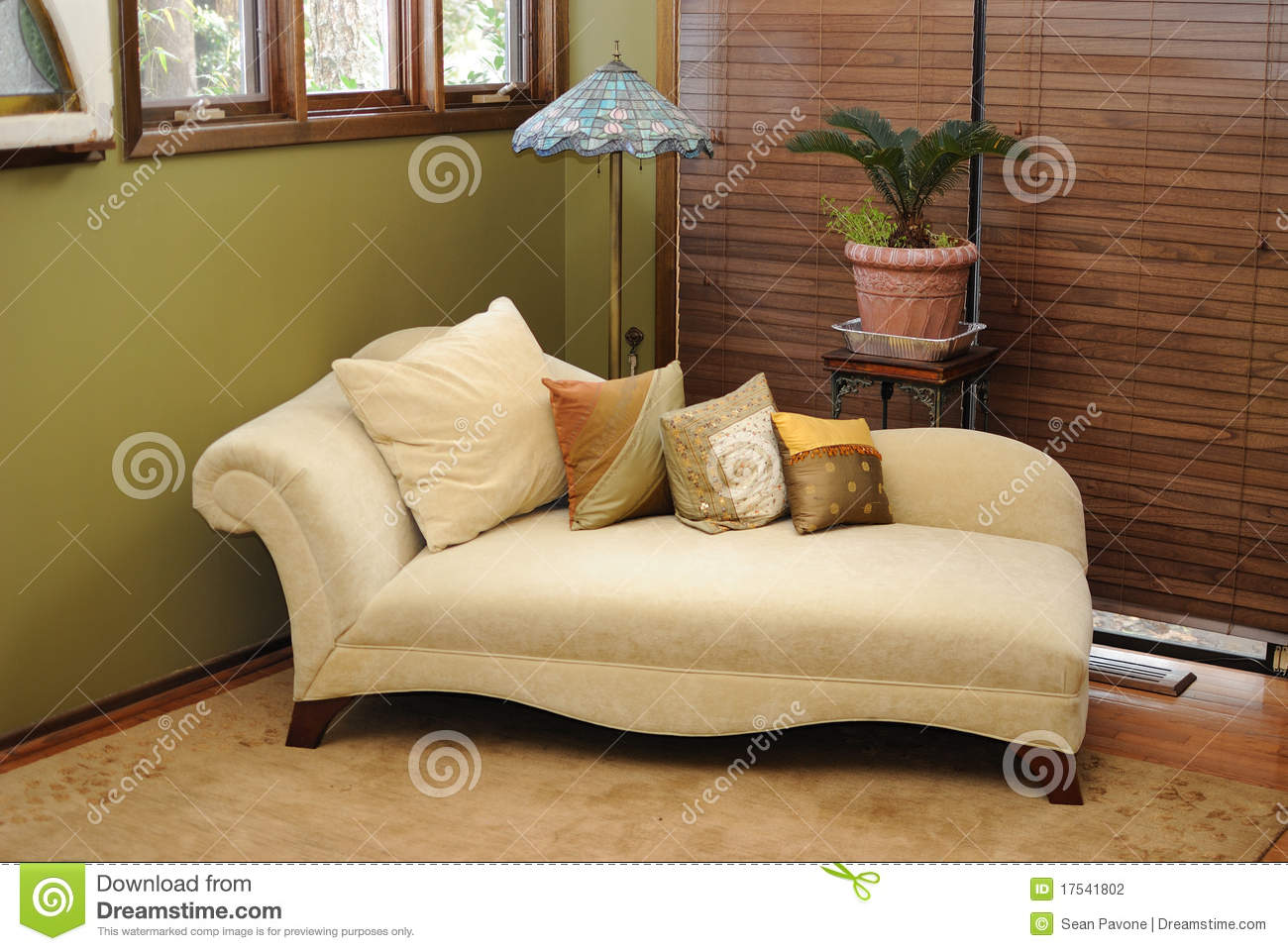 Plush Interior Lounge Chair Stock Photography Image
