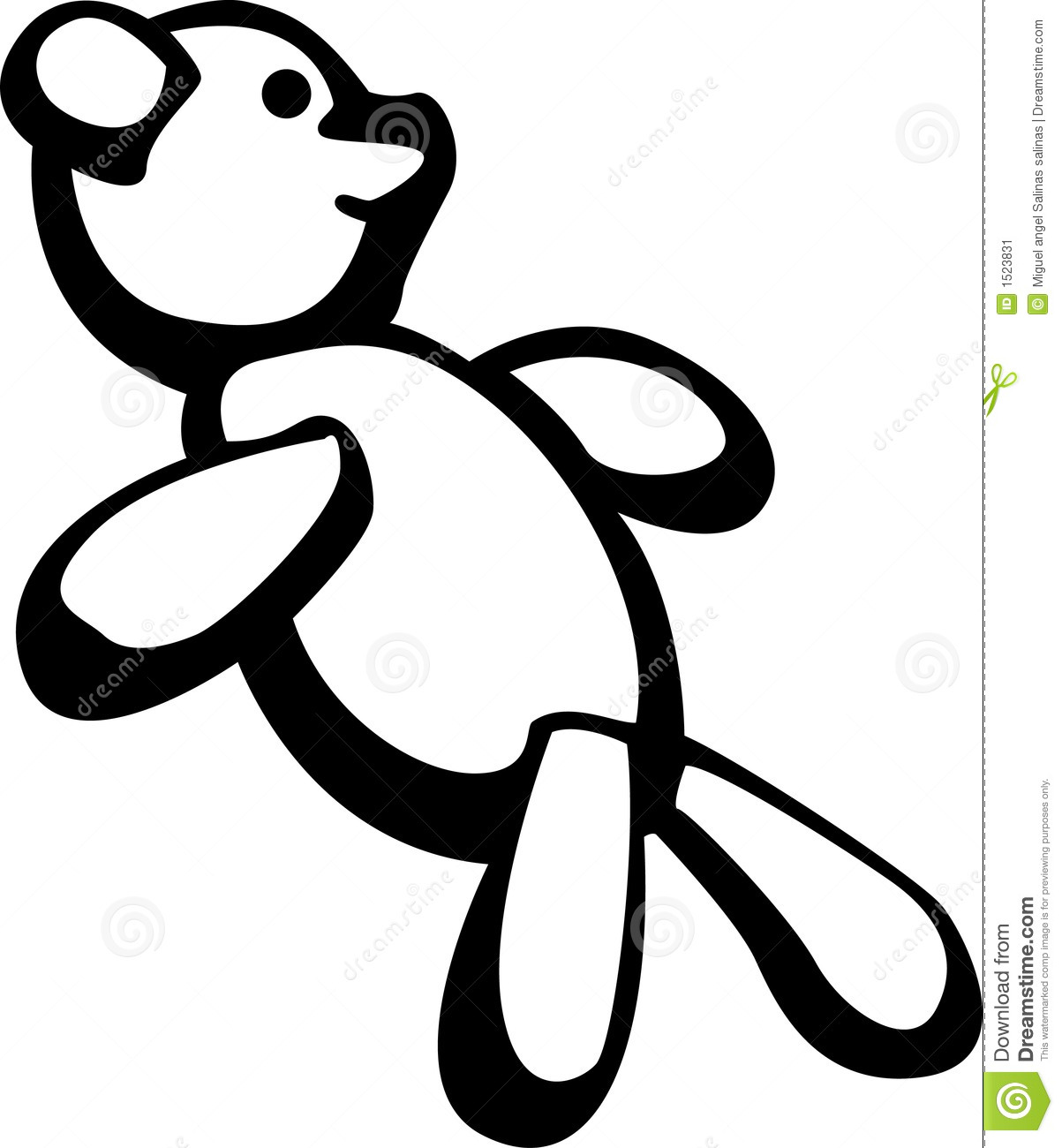 Soft Toys Clip Art : Plush toy bear vector illustration stock image