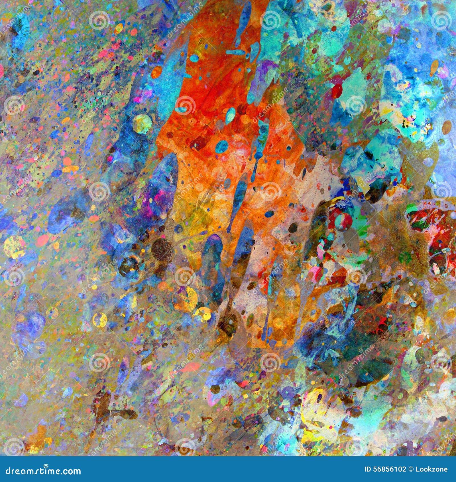 Pluskający kolory Abstrakcjonistyczni