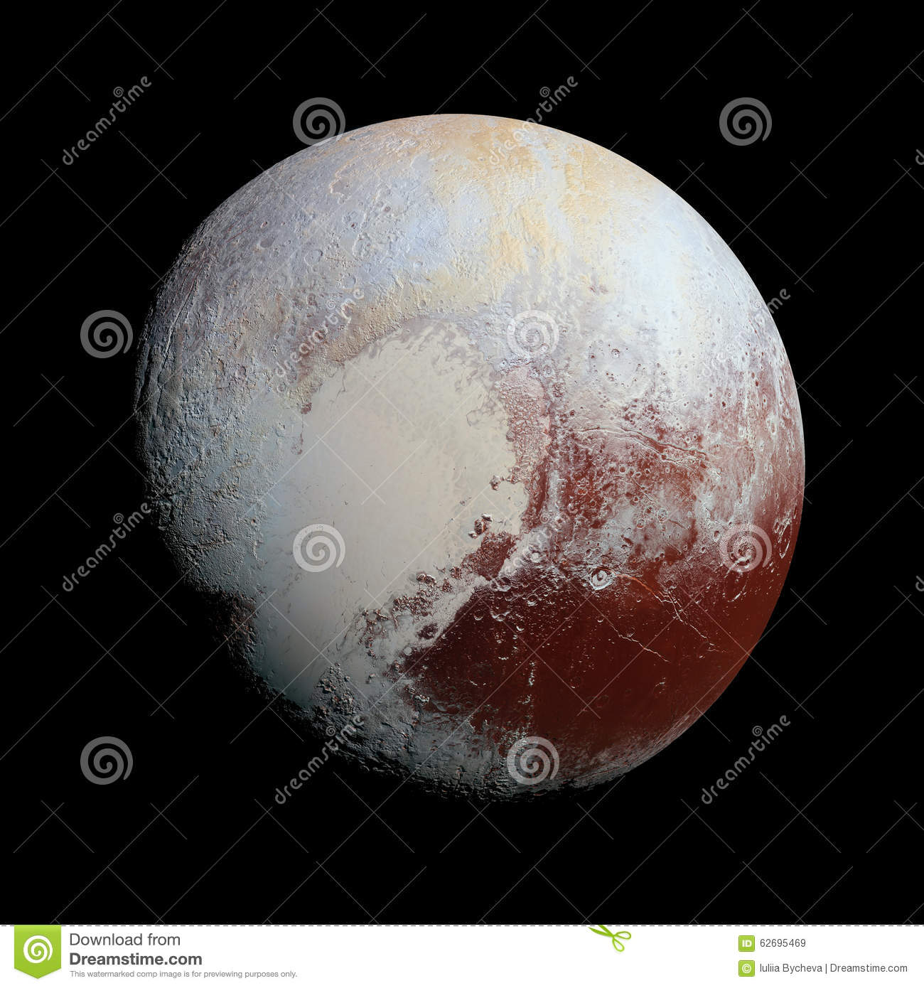 Pluto Planet Solar System Space Stock Illustration - Image ...