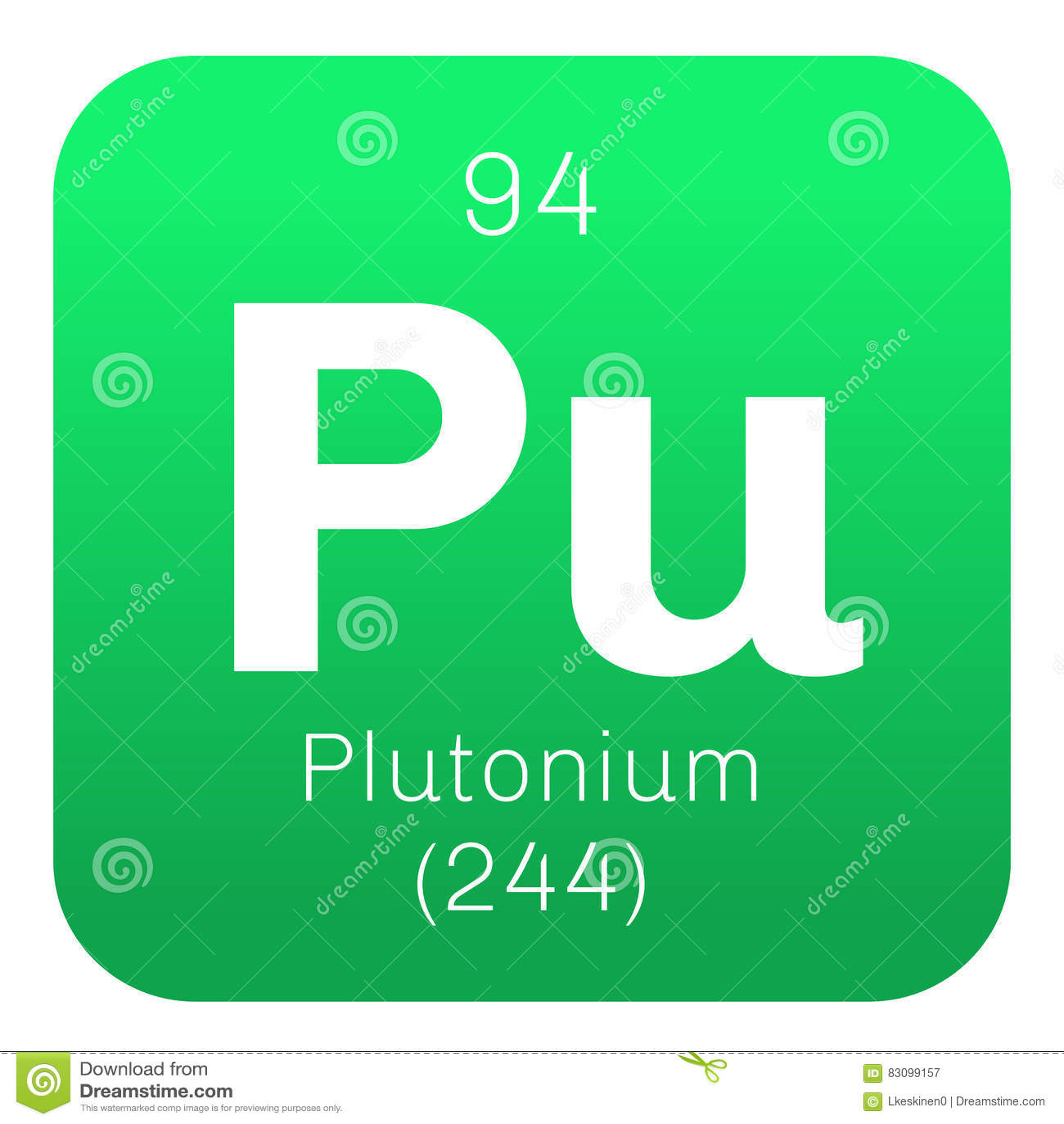 Plutonium chemical element stock vector. Image of element ...