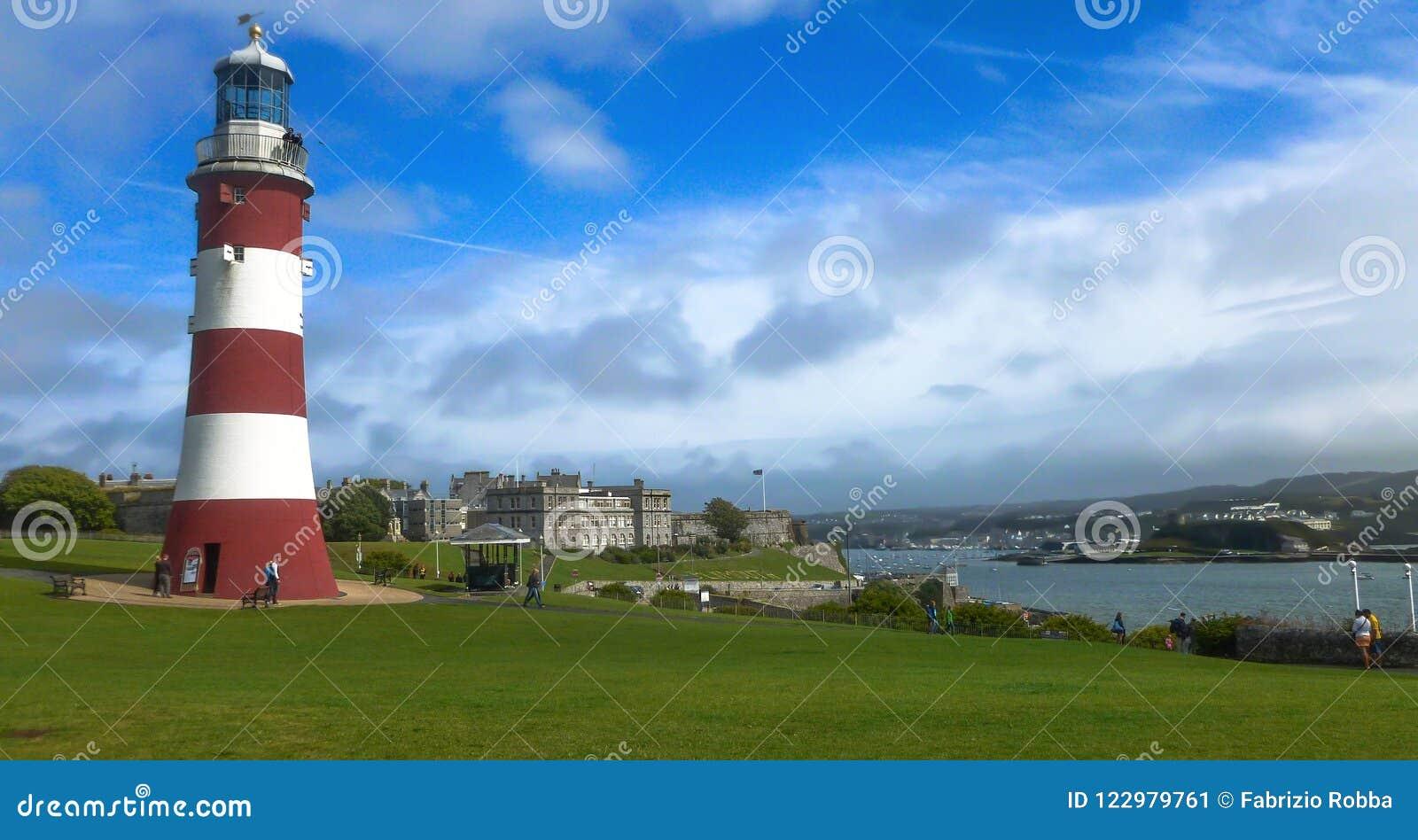 Plymouth Башня Smeatons в сапке Плимута, Англии