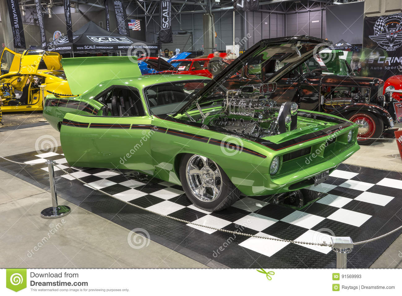 Plymouth barracuda custom editorial stock photo  Image of
