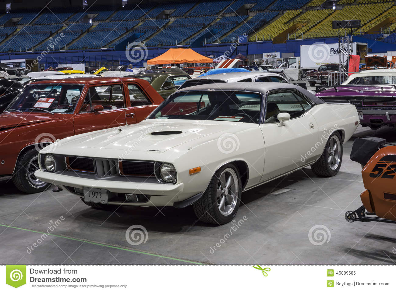 Plymouth barracuda editorial image  Image of musclecar
