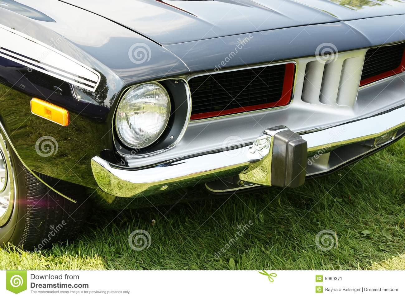 Plymouth Cuda Front End Stock Image - Image: 5969371