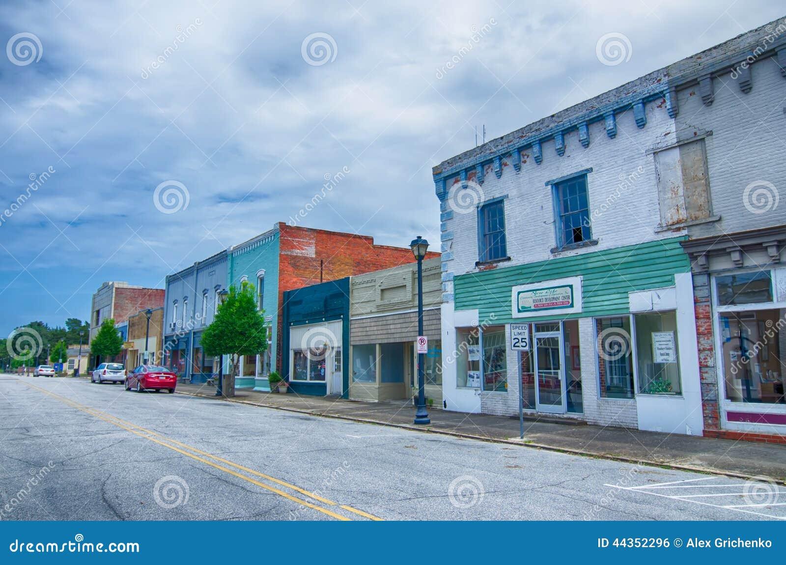Plymouth-de straatscènes van stadsNoord-Carolina