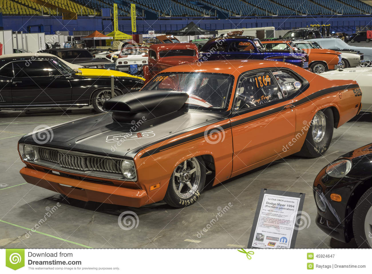 Plymouth duster drag car editorial photography. Image of grill ...