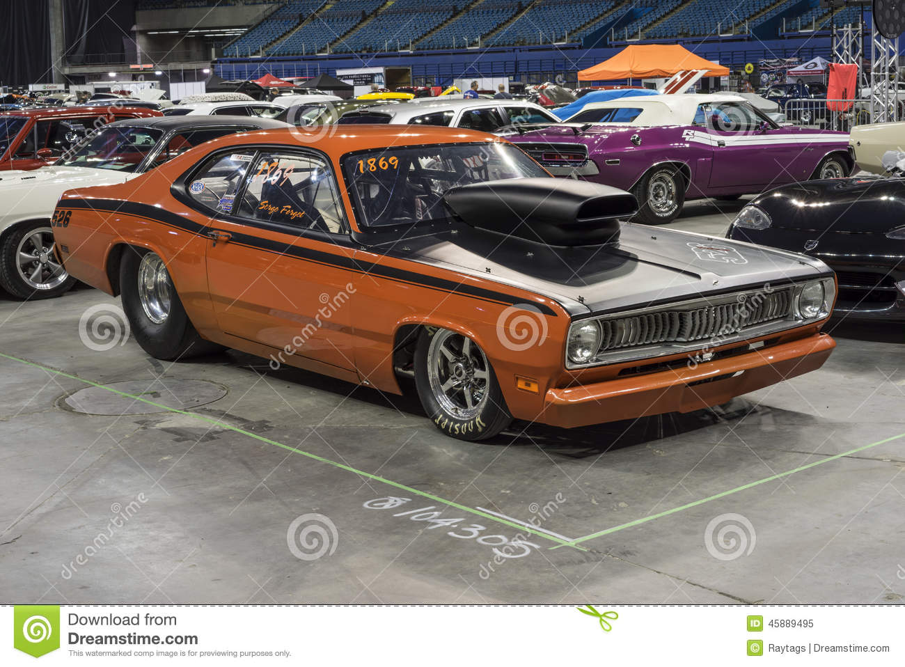 plymouth duster editorial image image of mopar event 45889495. Black Bedroom Furniture Sets. Home Design Ideas