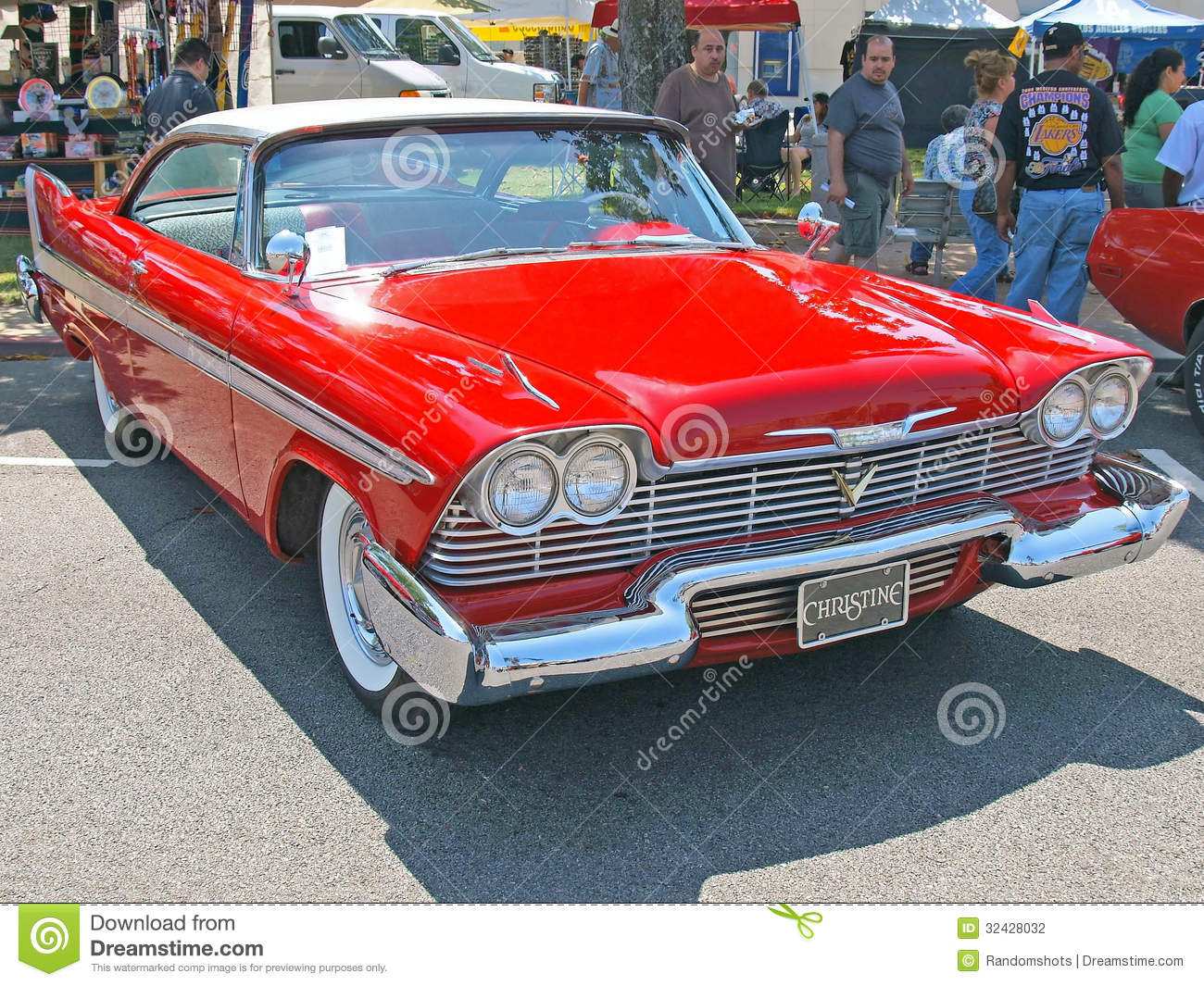 This is a two tone red and white 1957 Plymouth Fury made famous in the ...