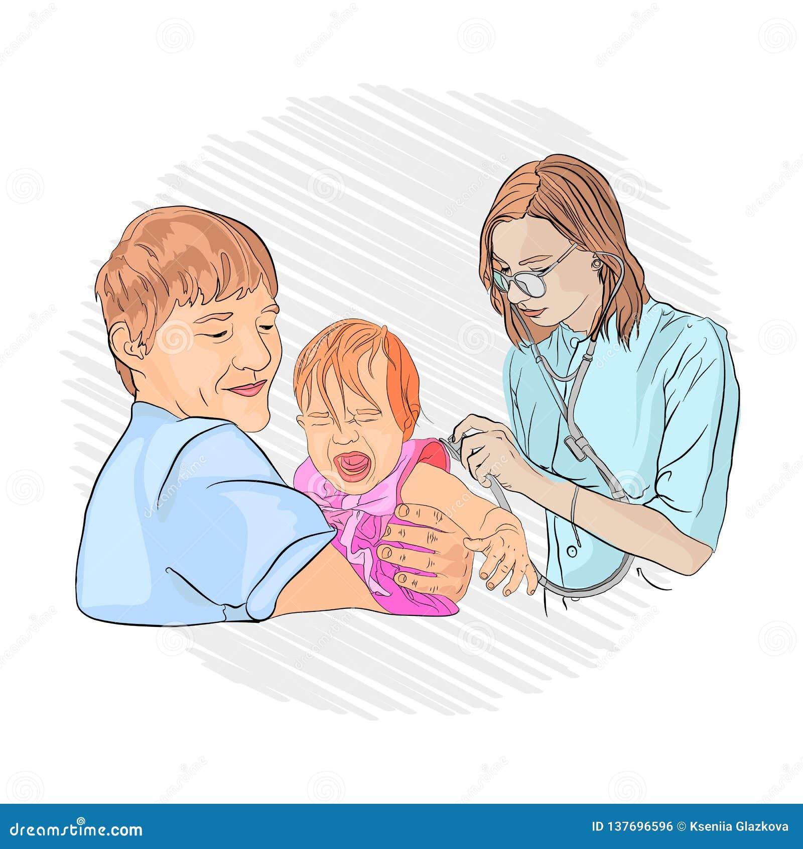 Pneumonie dans un enfant pédiatre