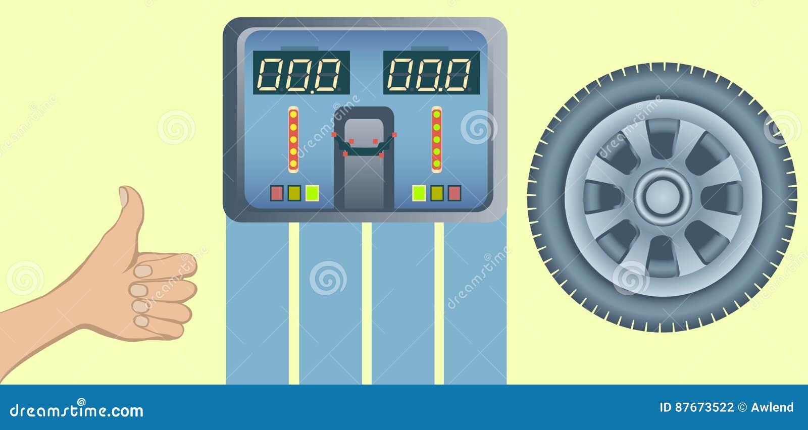 Pneus et équilibre parfaits d alignement des roues