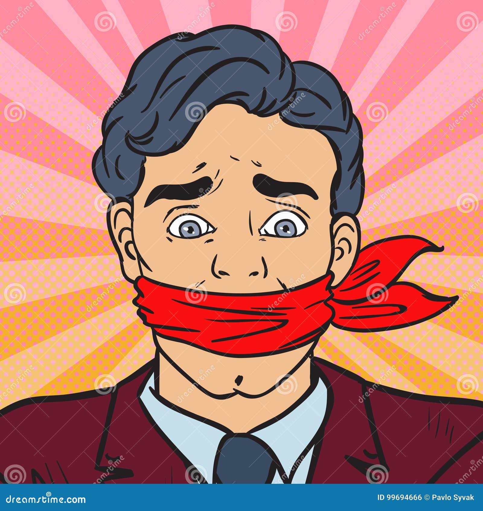 PNF Art Speechless Silenced Businessman Censura do negócio