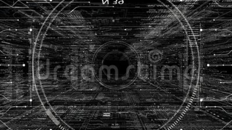 Png Alpha Hud Technological Intro Flying Through Digital Hud Target In Sci Fi Cyber Space Stock Footage Video Of Headline Elementsgood 108007198
