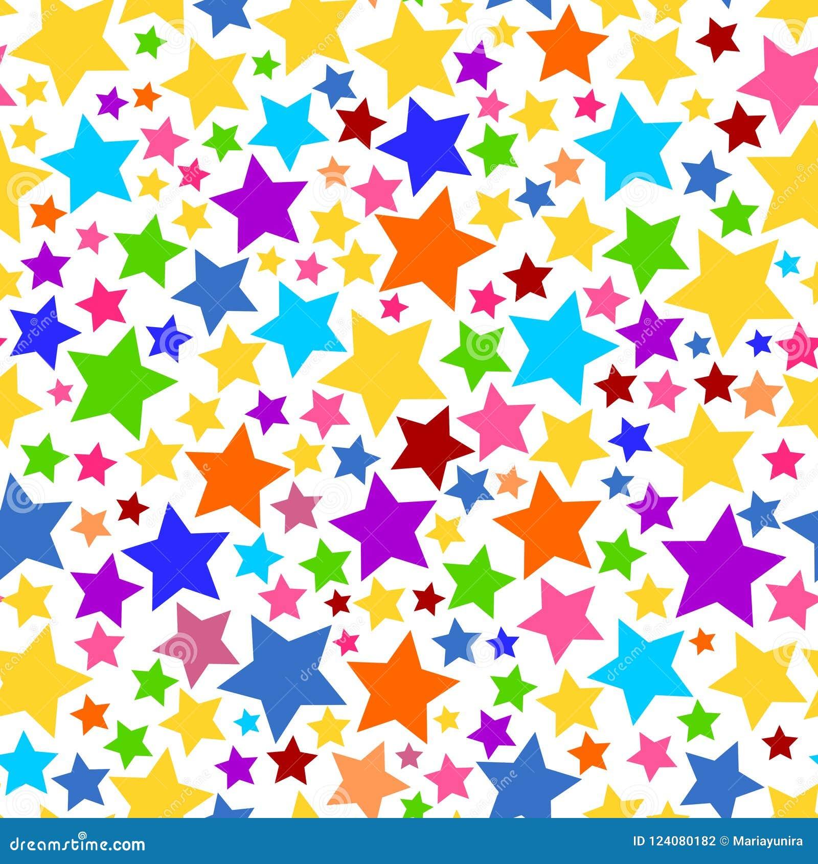 Png sans couture transparent coloré de fond d étoile