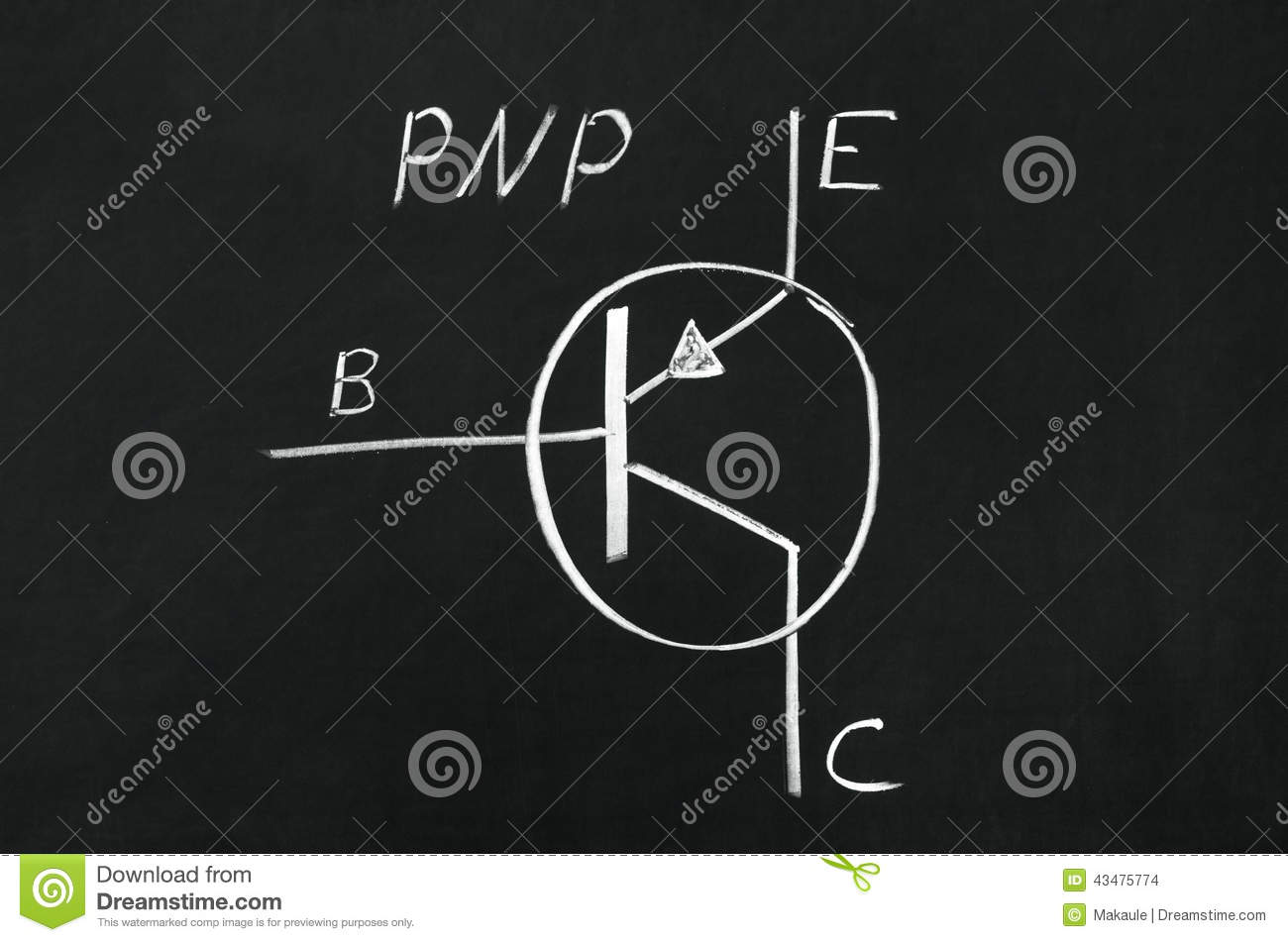 Pnp Transistor Diagram Stock Photo Image Of Plan Schematics 43475774