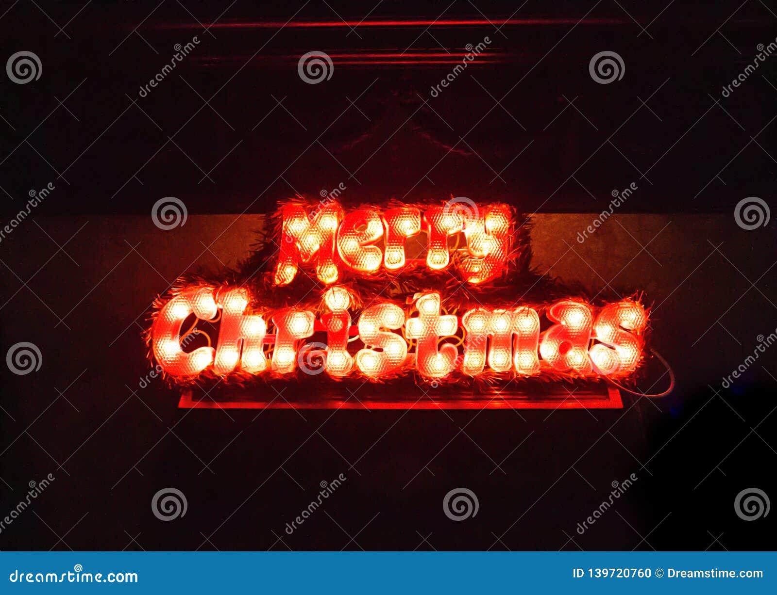 Poślubia bożonarodzeniowe światła Abstrakta lekki tekst dla nowego roku