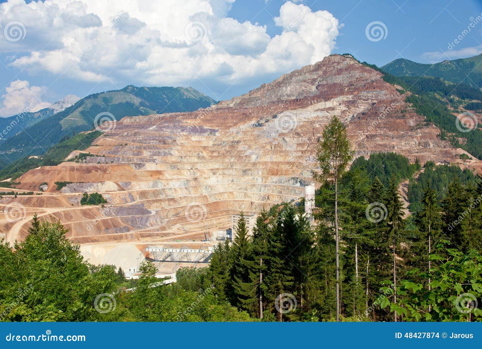 Poço aberto da mina de Erzberg