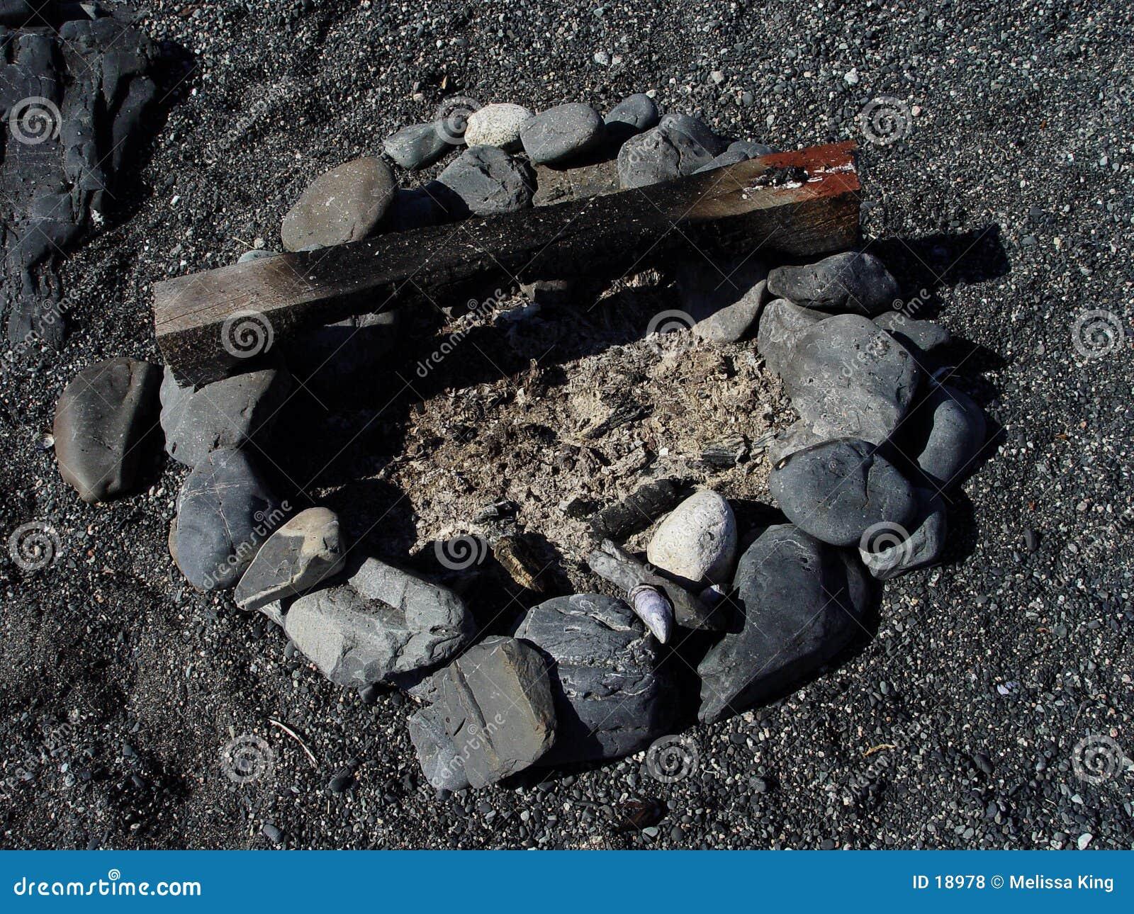 Poço do incêndio na praia