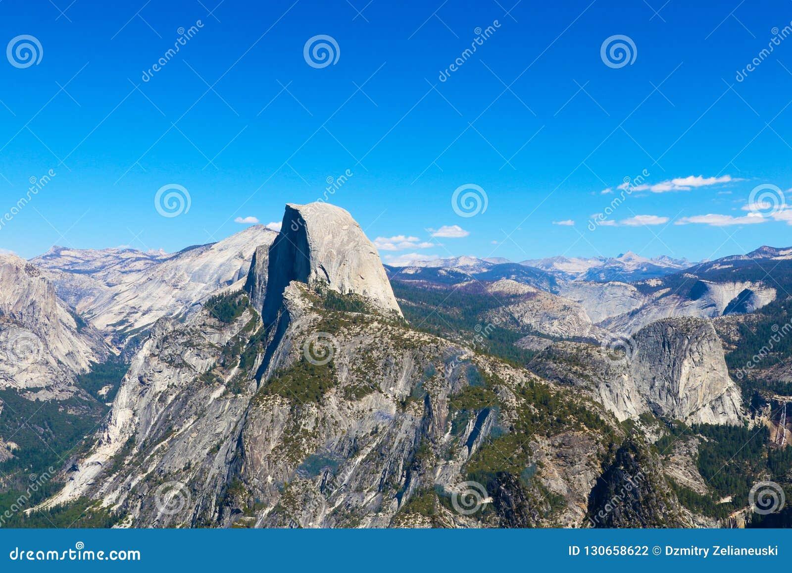 Połowa kopuły kalifornijskie park narodowy Yosemite