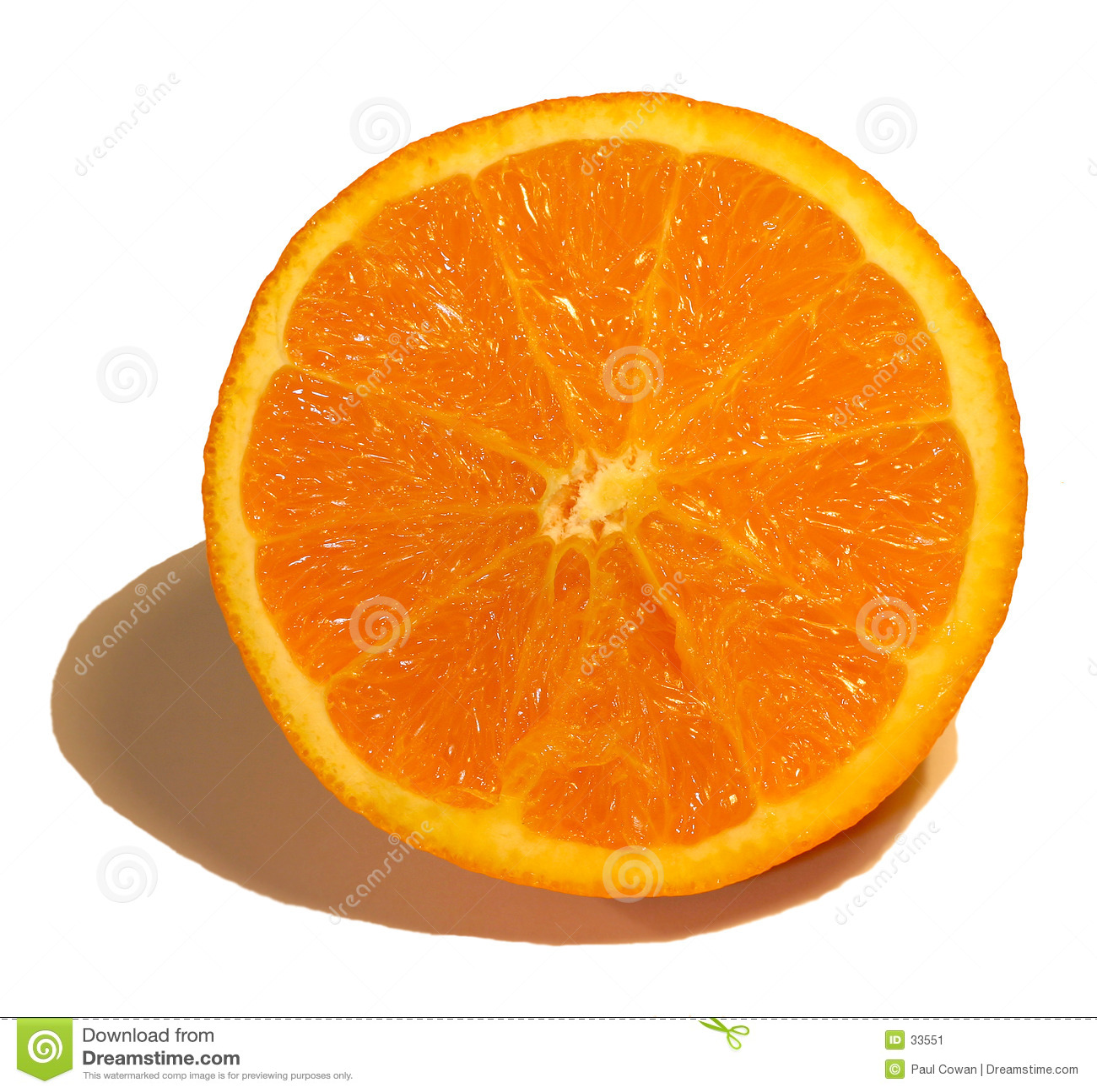 Połowa pomarańcze