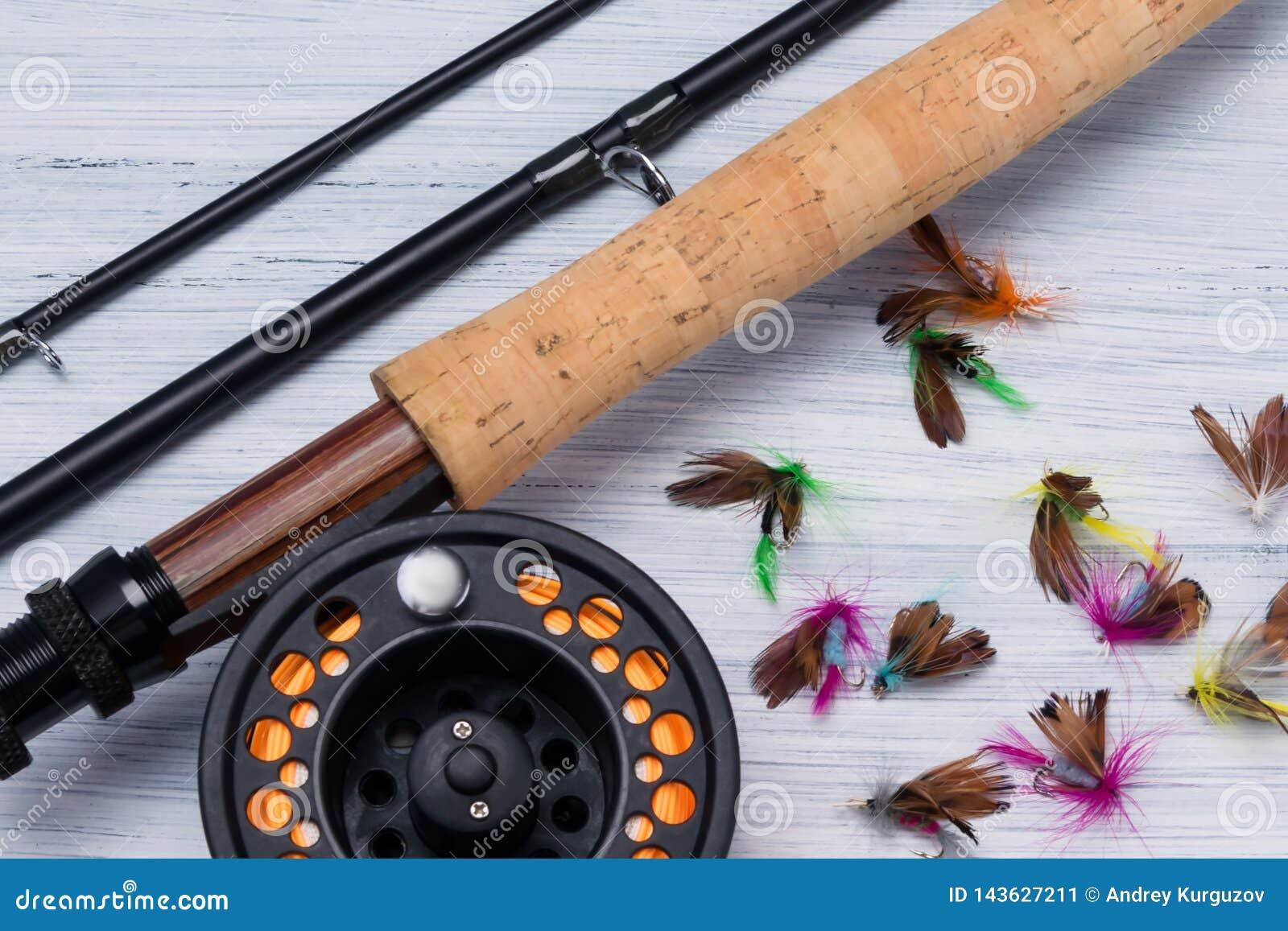 Połowu prącie z rolką i różnorodni popasy dla łowić w górę