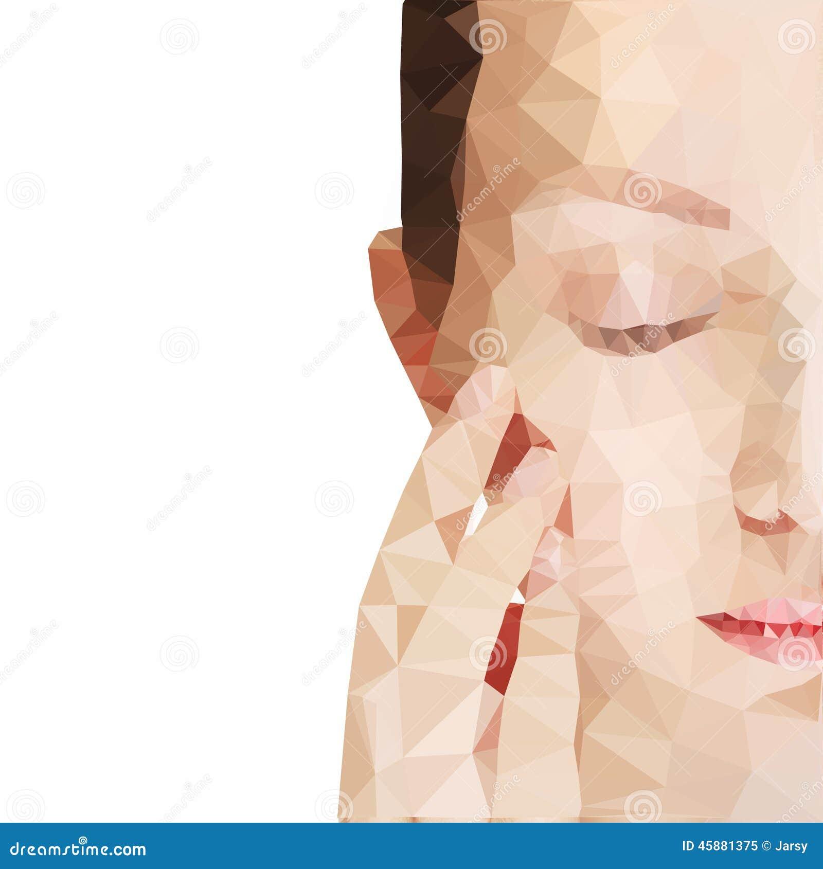 Połowy twarzy kobiety