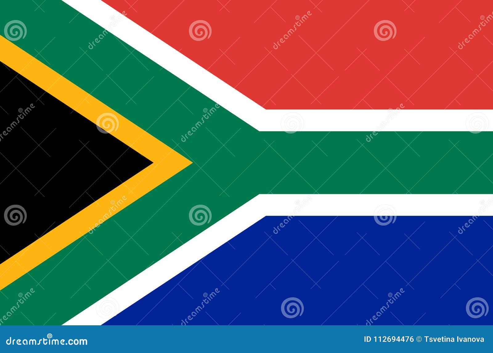 Południe - afrykańska flaga państowowa, urzędnika południowi Africa ścisli kolory flaga