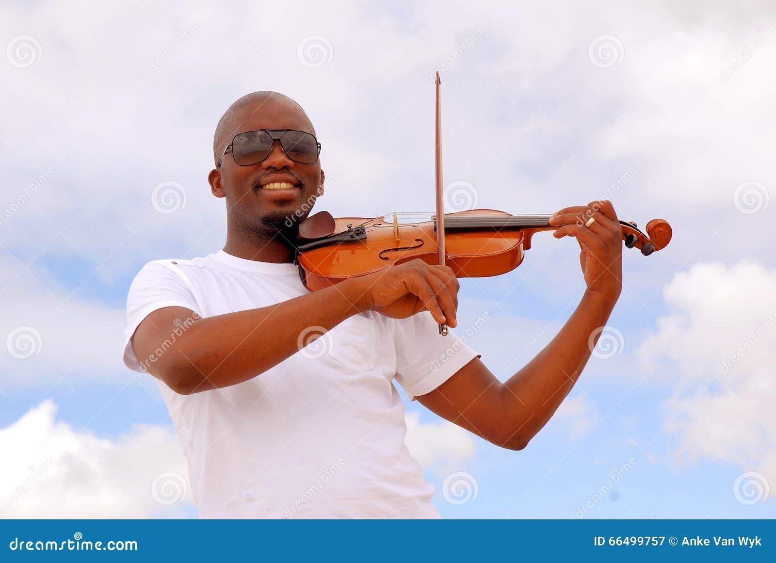 Południe - afrykański muzyk