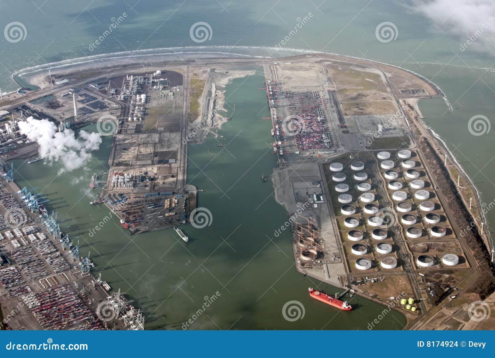 Południowe przemysłowe teren holandie