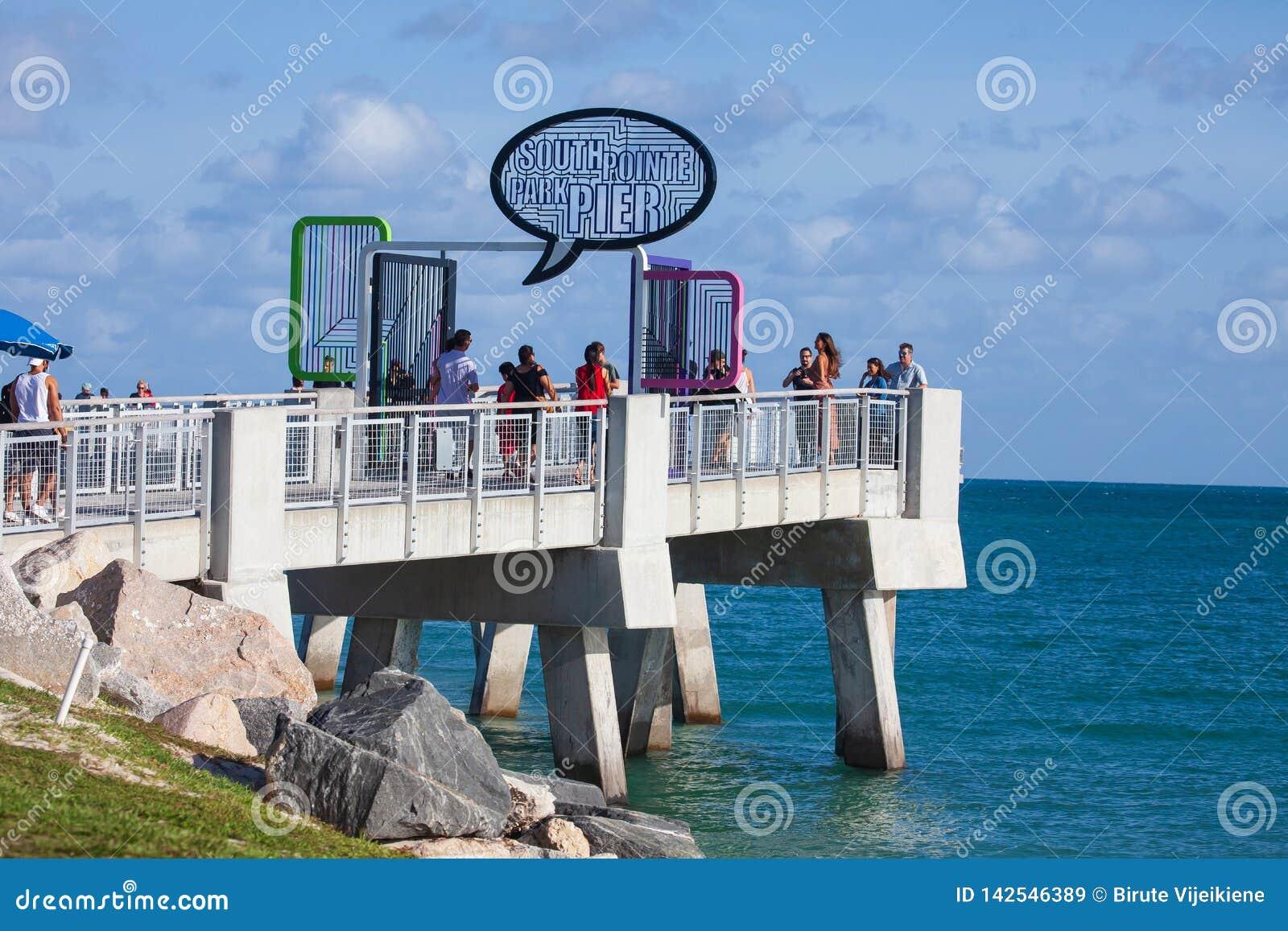 Po?udniowy Pointe molo w Miami pla?y