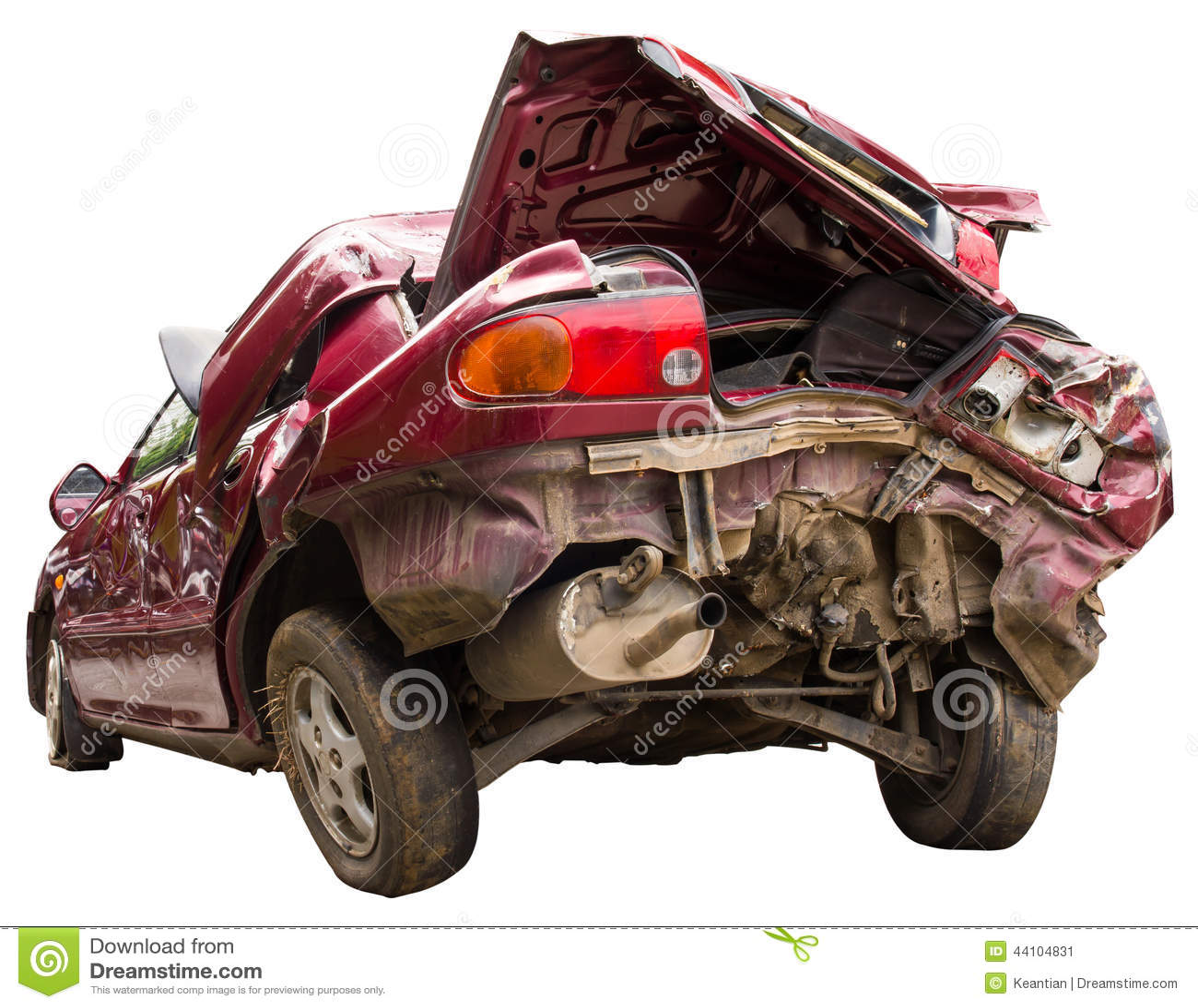 Pośladek czerwieni wypadek samochodowy