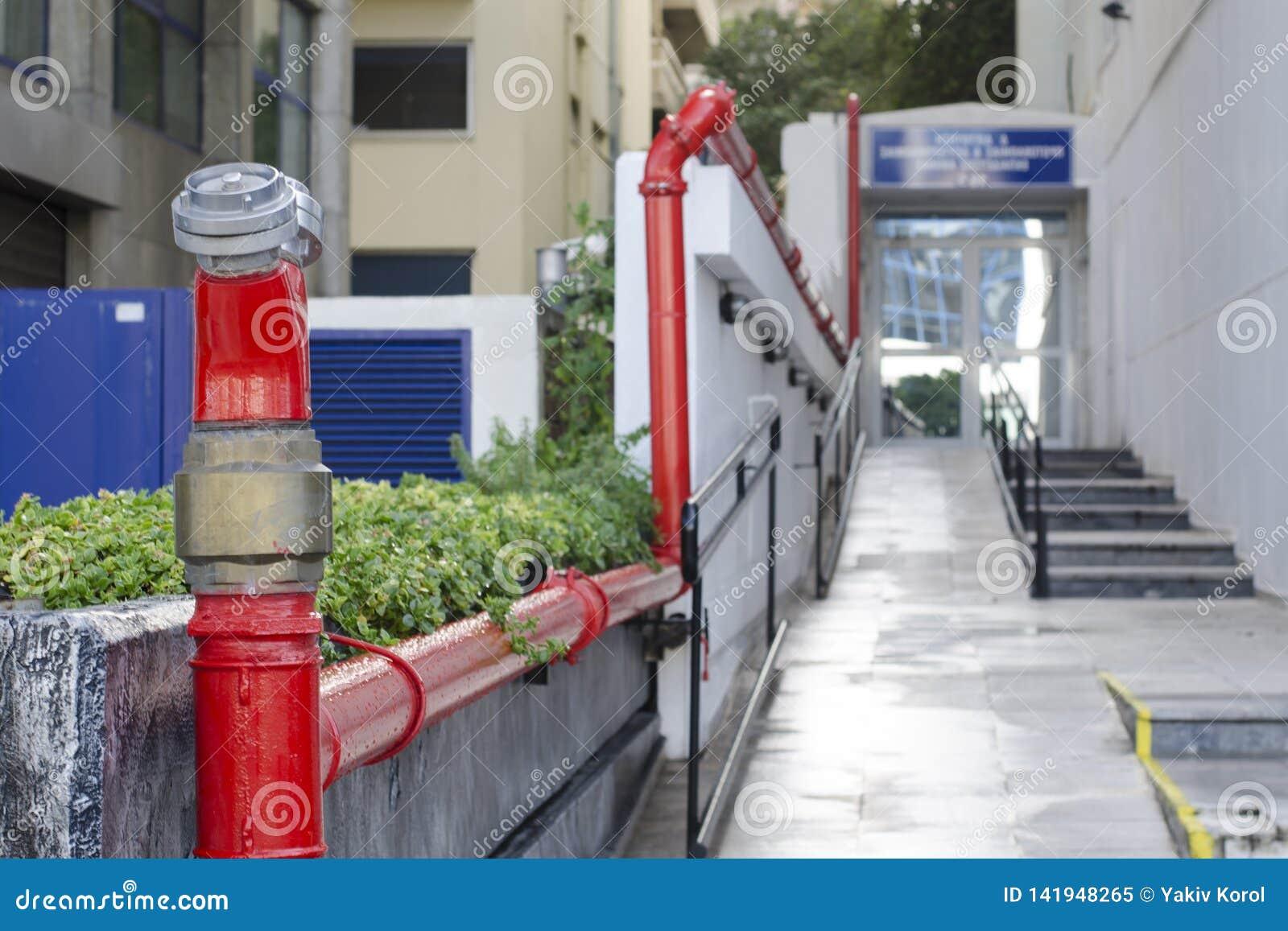 Pożarnicza drymba, uzupełniać pożarniczych silniki z wodą Ateny, Grecja