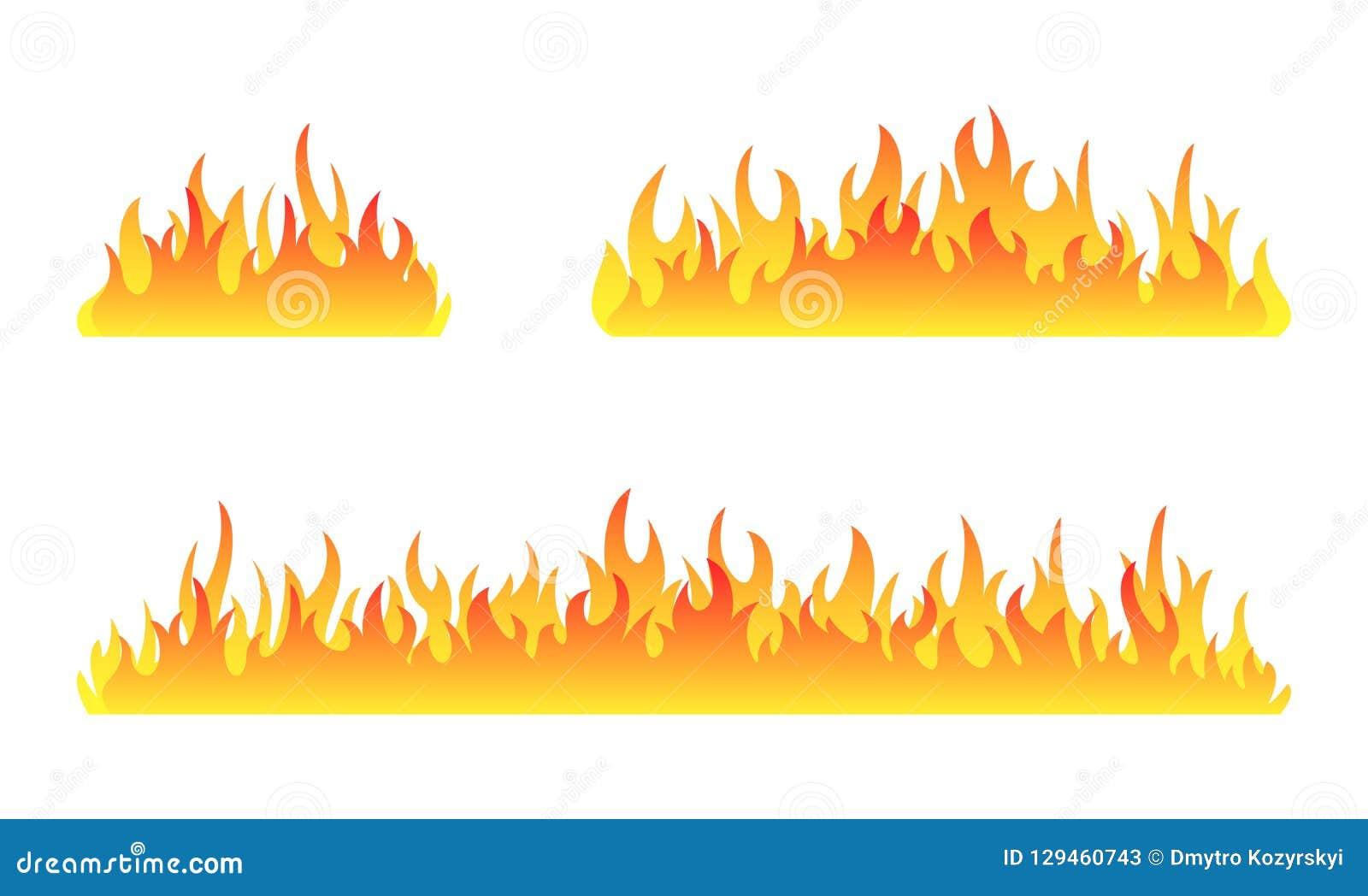 Pożarnicza kolekcja Ogień płonie wektoru set Set pożarniczy sztandar również zwrócić corel ilustracji wektora