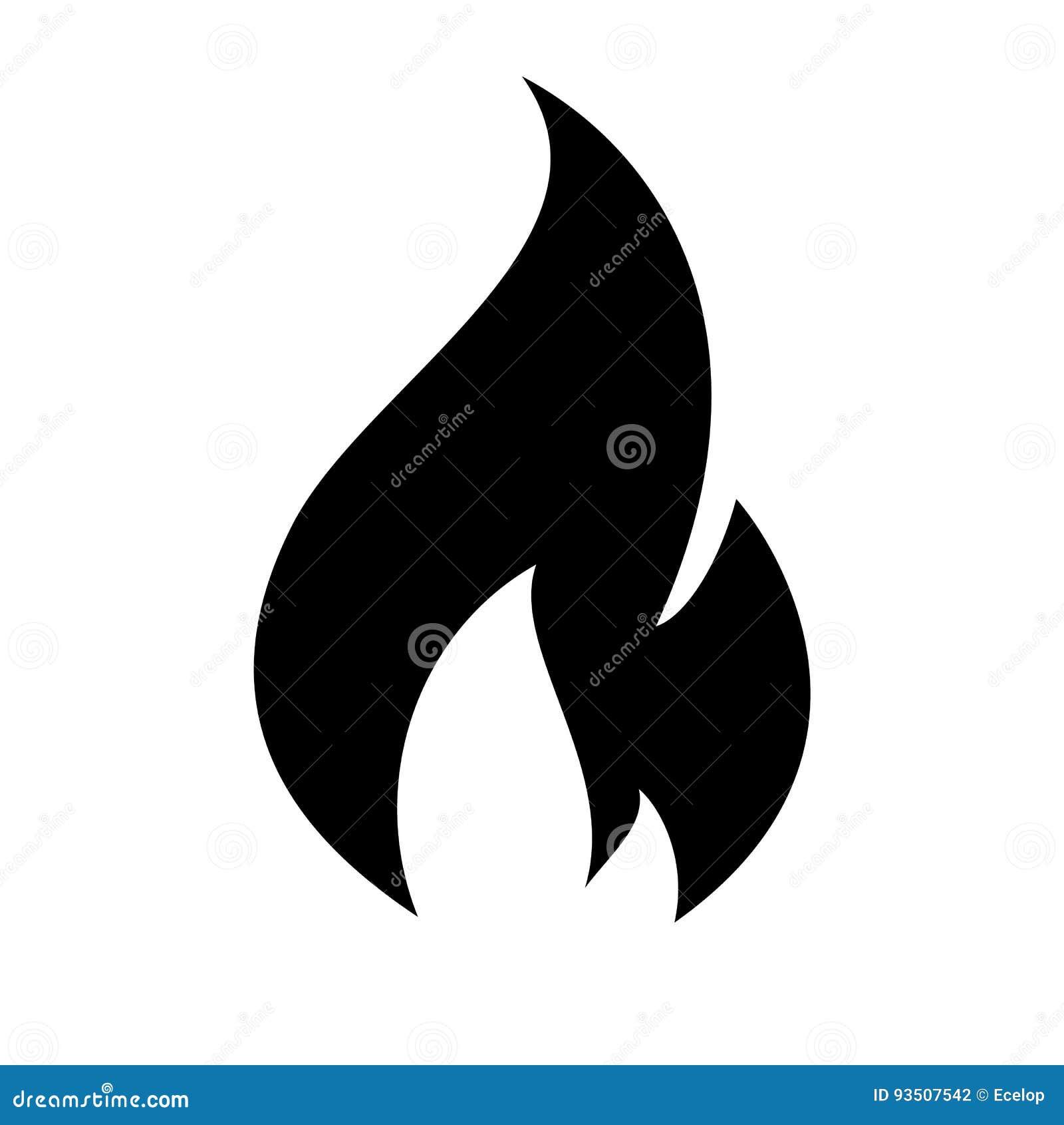 Pożarnicza płomień ikona