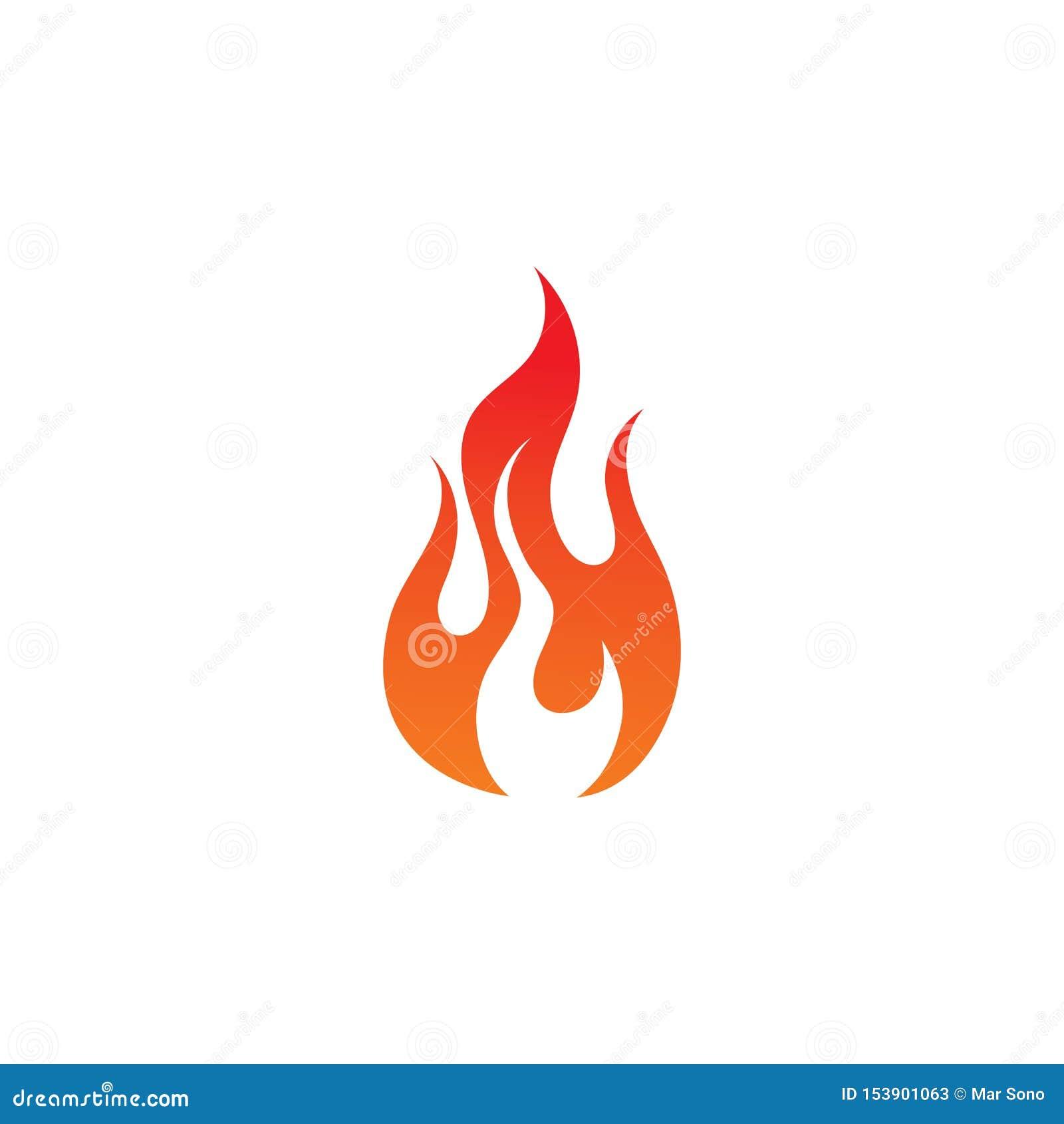 Pożarniczego płomienia gorący logo i symbol
