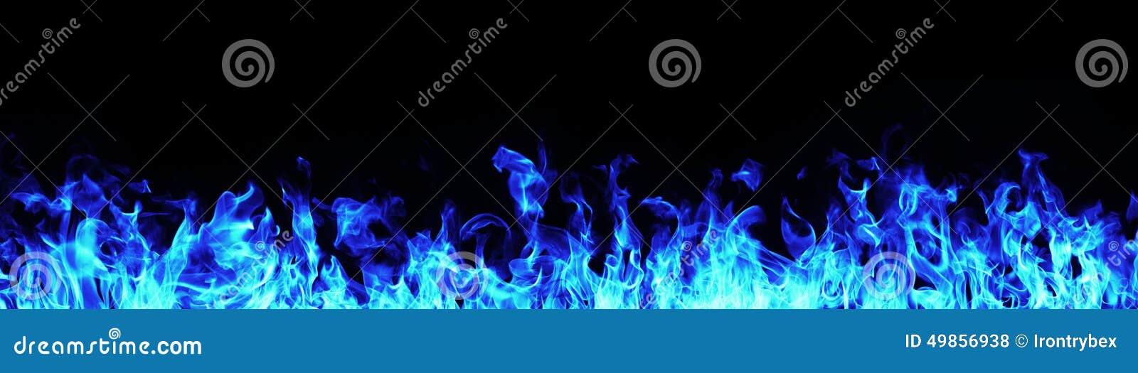 Pożarniczy błękit płomienie