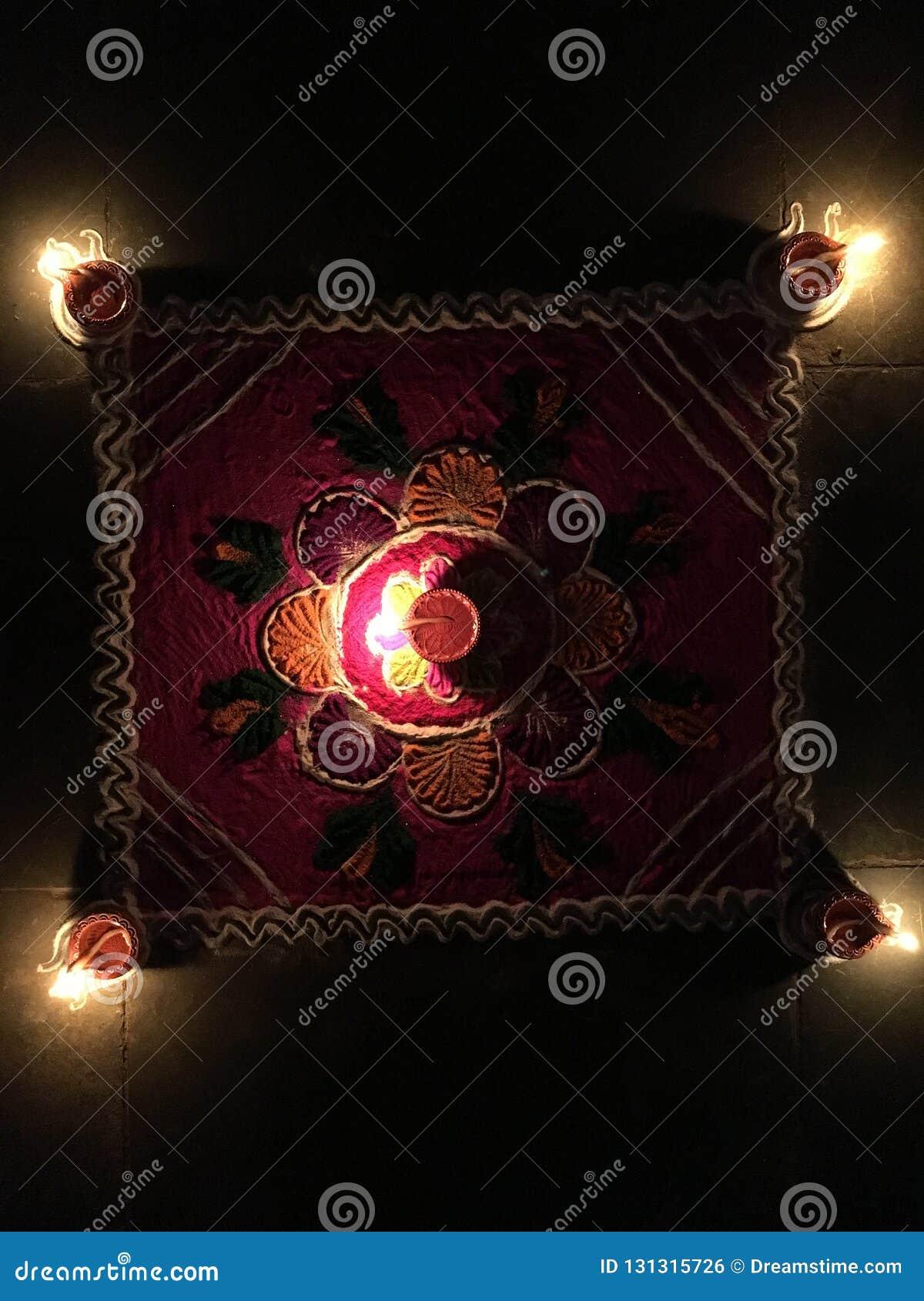 Pożarniczy krakersy podczas Diwali