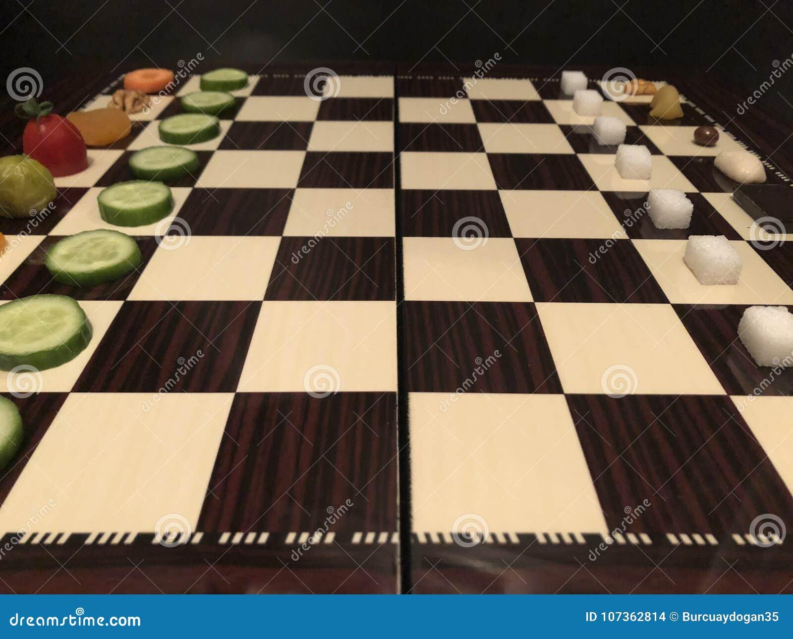 Pożytecznie i szkodliwy foods sztuki szachy Dżonek foods vs warzywa