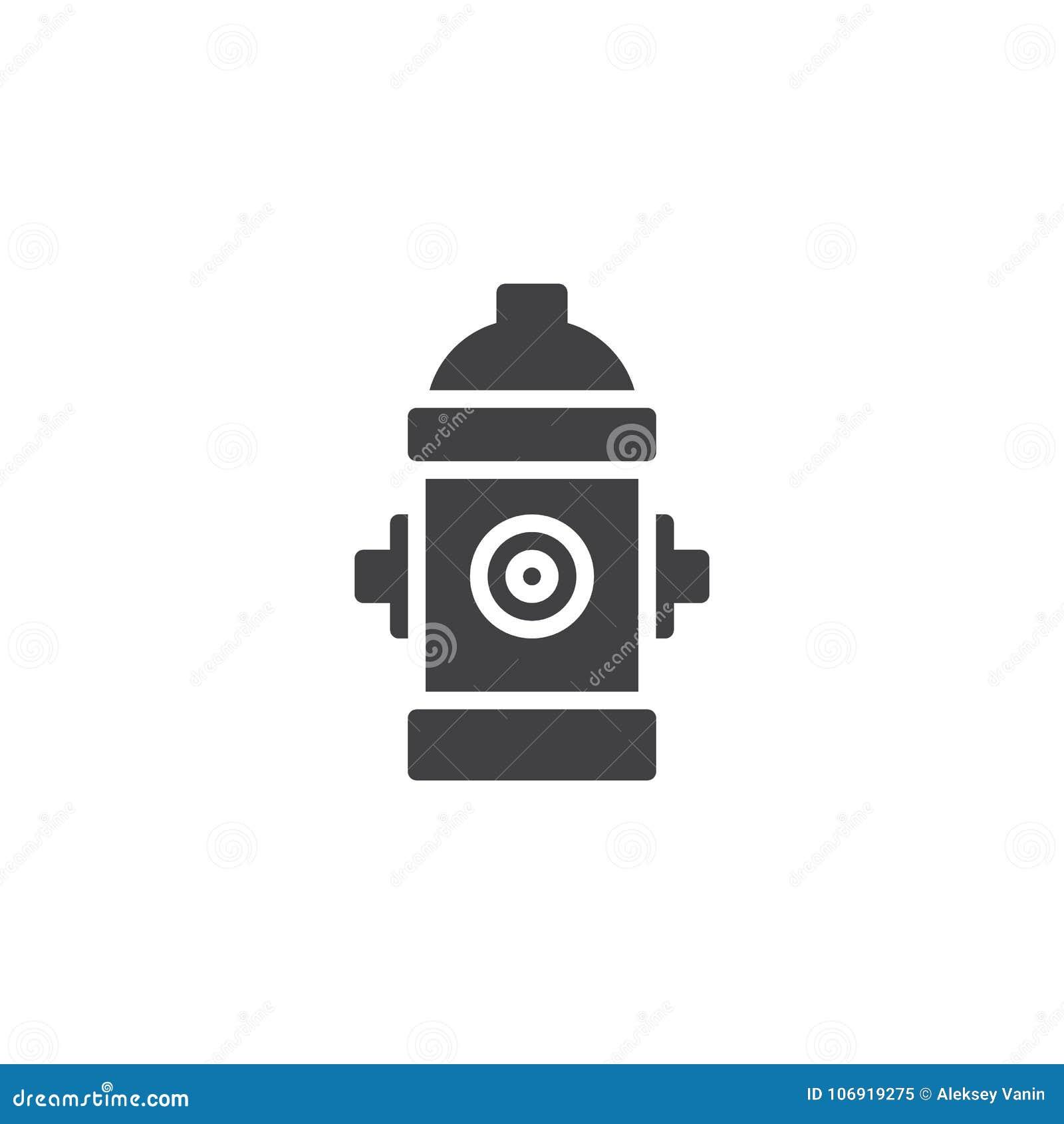 Pożarniczego hydranta ikony wektor