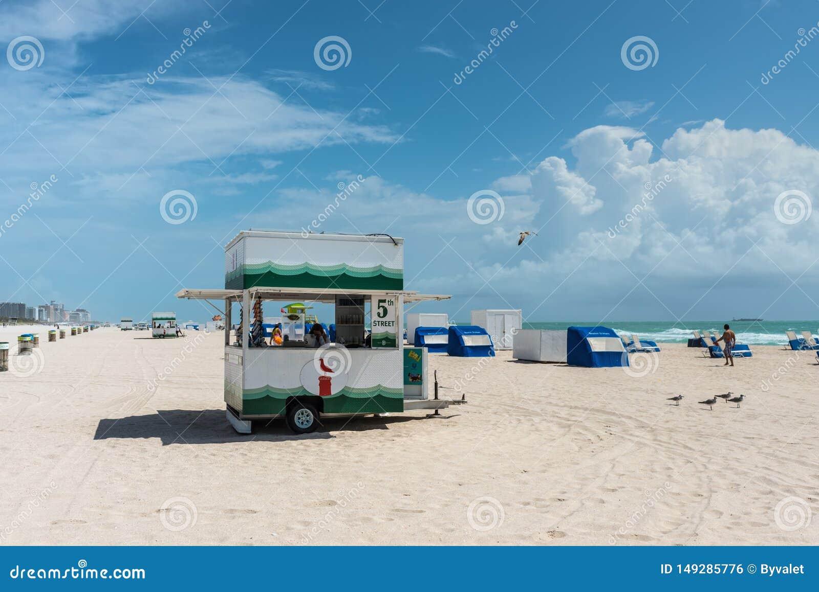 Po?udnie pla?a w Miami, Floryda, Stany Zjednoczone Ameryka