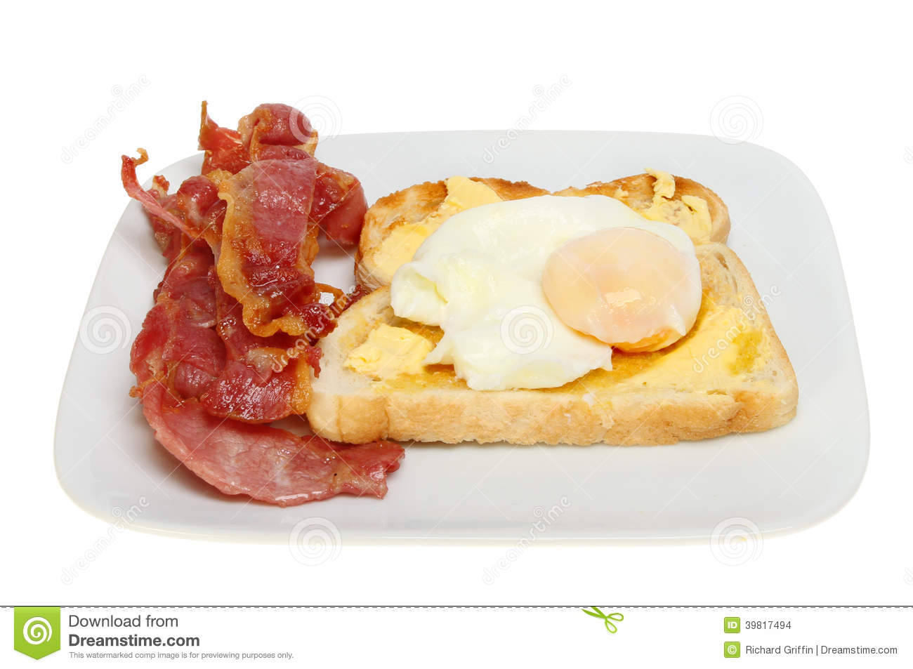how to cook bacon and eggs on toast