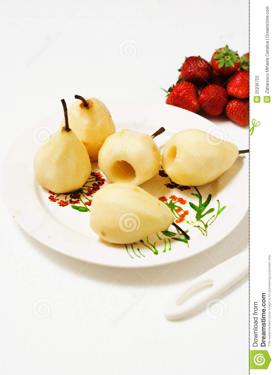 Poached pears royalty free stock photography for Poached strawberries