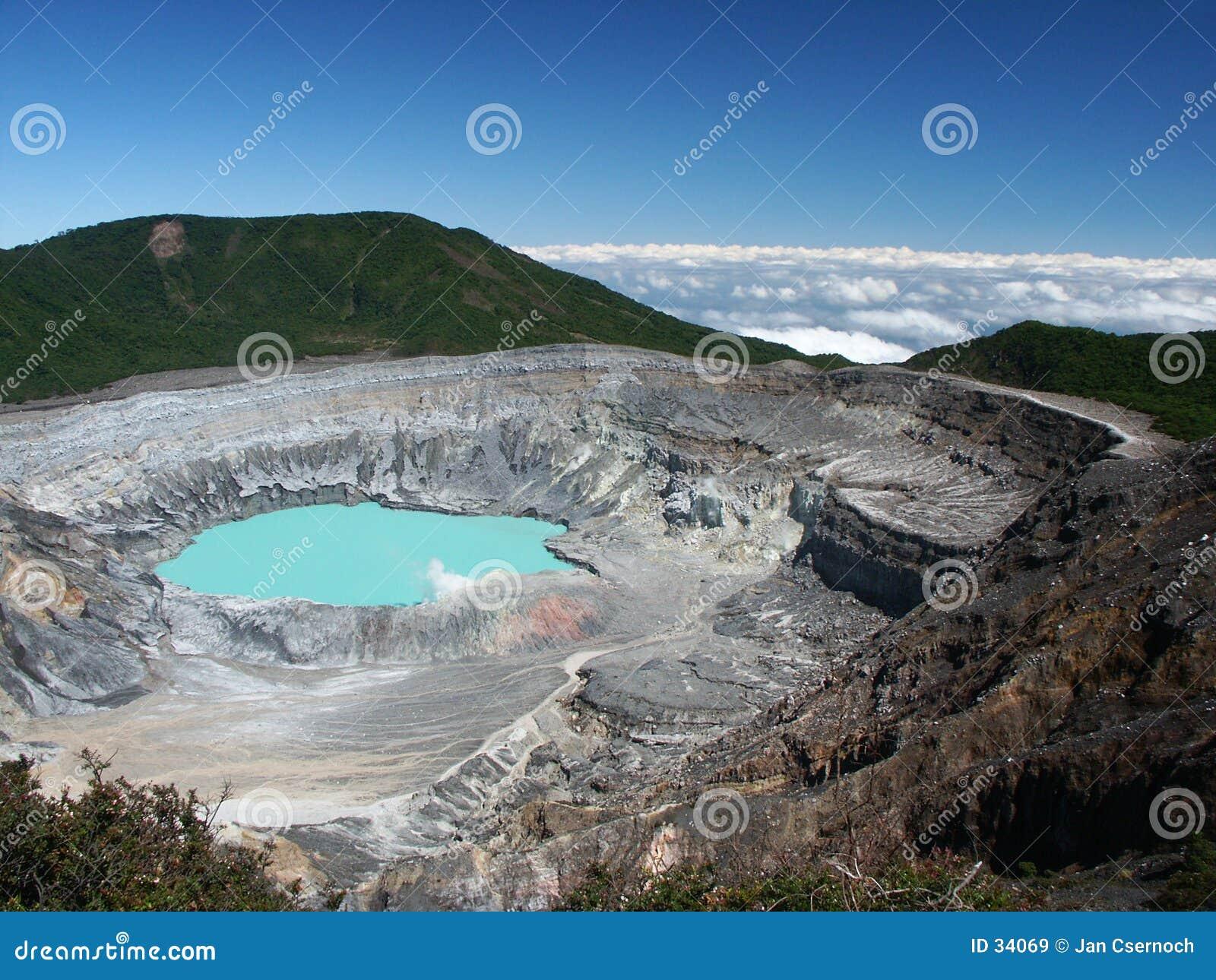 Poas kraterów wulkan