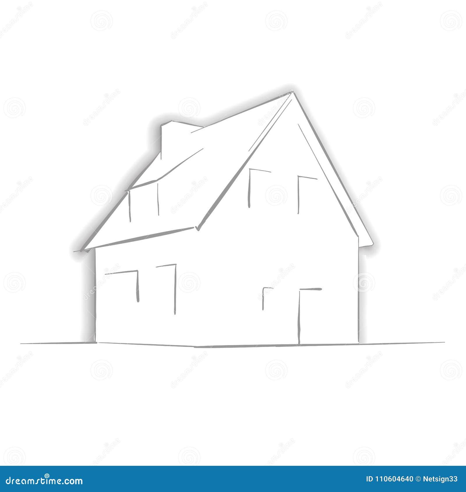 Poca casa que dibuja a mano