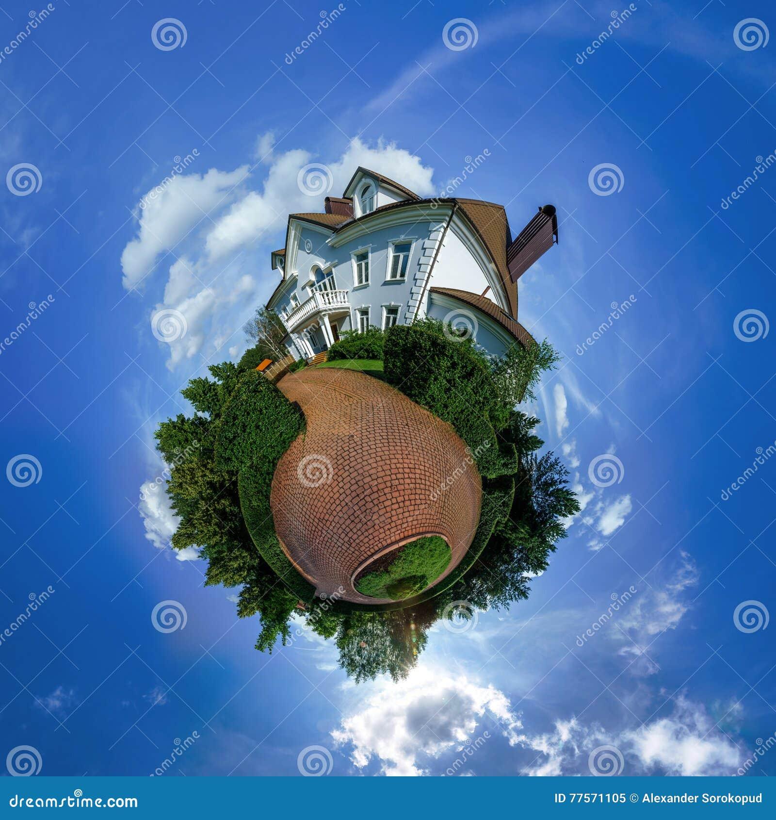 Poca vista del pianeta di bella casa