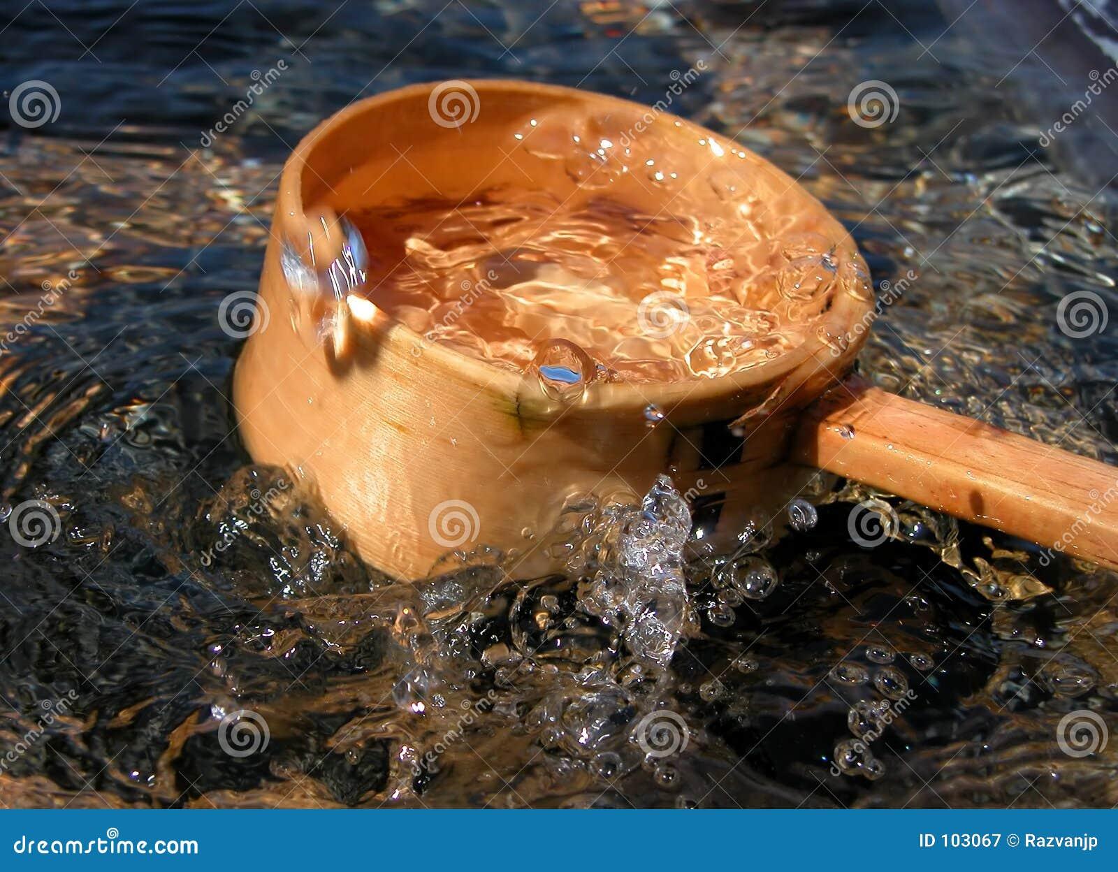 Poche et éclaboussure en bambou