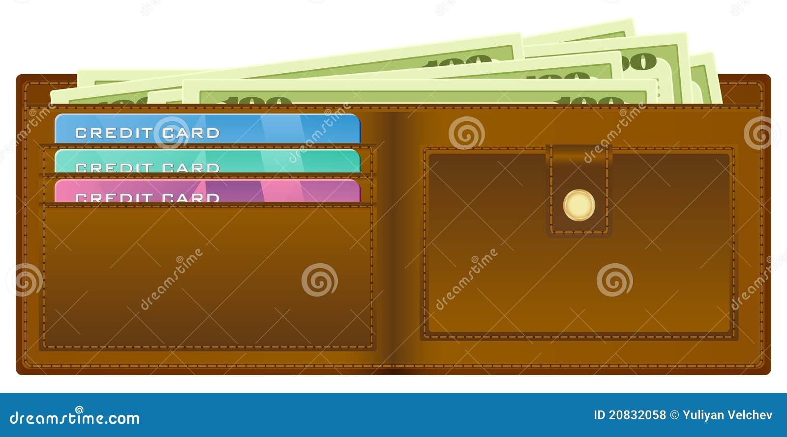 Pochette avec de l argent