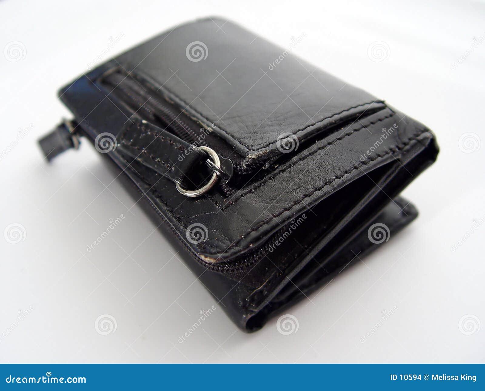 Pochette en cuir noire